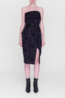 Жаккардовое платье-бюстье