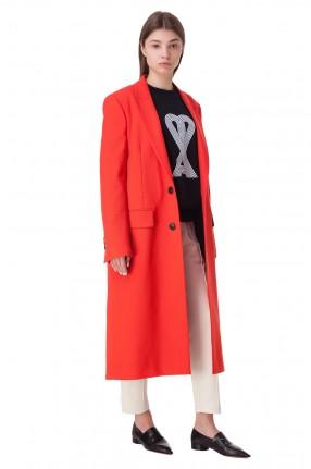 AMI Пальто с разрезами в боковых швах