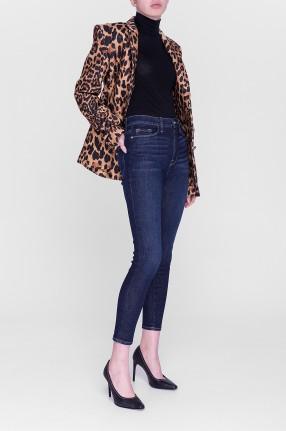 FRAME Укороченные джинсы с потертостями