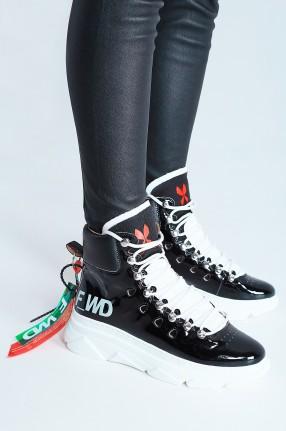 F_WD Лакированные ботинки с принтом