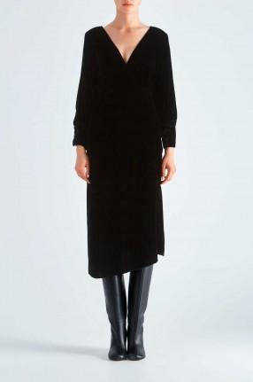 IRO Бархатное асимметричное платье