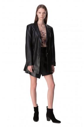 NANUSHKA Удлиненный пиджак из эко-кожи