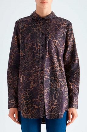 ONE TEASPOON Рубашка с анималистическим принтом