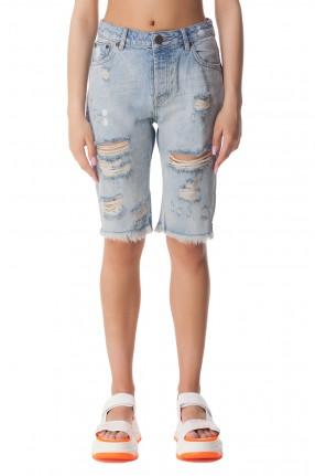ONE TEASPOON Джинсовые шорты с эффектом потертостей
