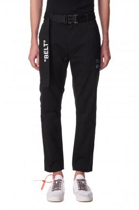 OFF-WHITE Укороченные брюки с регулируемым ремнем