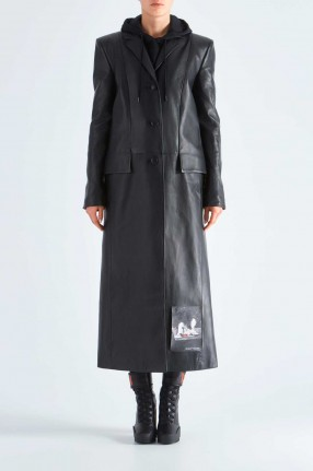 OFF-WHITE Кожаное пальто