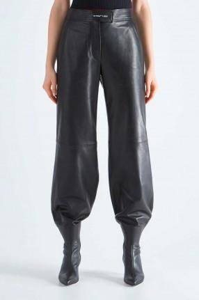 OFF-WHITE Кожаные брюки