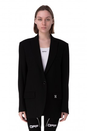 OFF-WHITE Удлиненный пиджак oversize