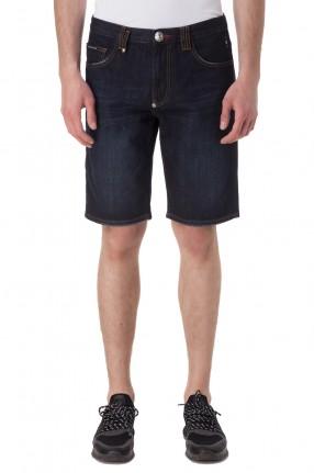 PHILIPP PLEIN Джинсовые шорты с эффектом потертостей
