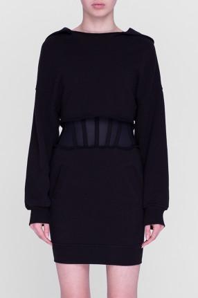 RTA Платье-худи на корсетной основе