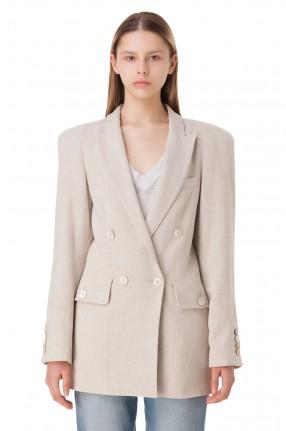 TRE BY NATALIE RATABESI Двубортный пиджак oversize