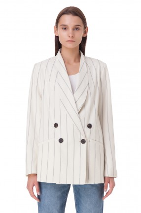WON HUNDRED Двубортный пиджак oversize в полоску